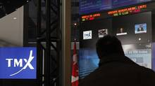 The TMX Broadcast Centre in The Exchange Tower in Toronto is pictured. On Friday, the S&P/TSX index had fallen 2 per cent week over week. (Deborah Baic/The Globe and Mail)