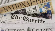 Postmedia Network Inc. will cut 25 jobs at the Postmedia News division, which provides stories to its chain of daily papers, including the Ottawa Citizen, Vancouver Sun and the National Post, as well as company websites. (Adrian Wyld/The Canadian Press/Adrian Wyld/The Canadian Press)