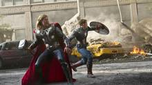 """Marvel's The Avengers"" Thor (Chris Hemsworth) and Captain America (Chris Evans) join forces in ""Marvel's The Avengers,"" opened in theatres on May 4, 2012. (Zade Rosenthal/Handout)"