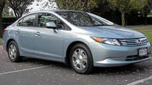 2012 Honda Civic Hybrid (Ted Laturnus for The Globe and Mail/Ted Laturnus for The Globe and Mail)