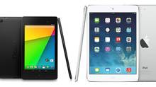 It's a head to head battle between the best in tablets. (Google, Apple)