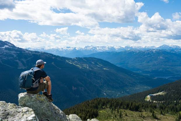 The Whistler and Blackcomb mountains offer more than 50 kilometres of hiking trails.