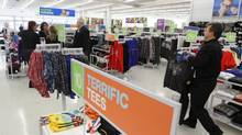 Many observers expect Statistics Canada to report Wednesday that retail sales across the country rose by 0.2 per cent in March, though some expect to see a decline of 0.2 per cent. (Glenn Lowson For The Globe and Mail)