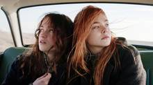 Alice Englert and Elle Fanning, right, in Ginger & Rosa.