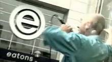 Screen grab from YouTube video of R.E.M. playing outside the Eaton Centre