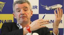 Ryanair Ltd.'s chief executive Michael O'Leary speaks to the media in Vitrolles, southern France, Jan. 16, 2013. (Claude Paris/AP)