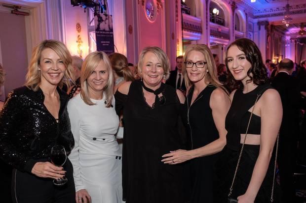 Sherie Toner, Debra Kerr, DJD executive director Kathi Sundstrom, Michelle McPherson and Ellie Caissie.