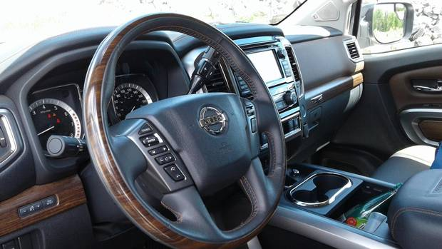 The Titan's stylish interior.