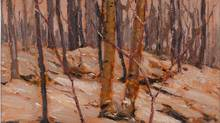 """A detail from the Tom Thomson painting """"Winter Sunset, Algonquin Park,"""" is shown in a handout photo. (THE CANADIAN PRESS)"""