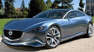 The Shinari sports coupe, a four-door concept, best encapsulates where Mazda design is headed