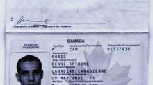 The false Canadian passport used by Algerian Ahmed Ressam when he lived in Canada and attempted to enter the United States is shown in this photocopy of an evidence exhibit provided by U.S. federal prosecutors following Mr. Ressam's conviction on several terrorism-related charges. (NICK UT/ASSOCIATED PRESS)