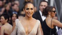 Singer Jennifer Lopez arrives at the 84th Academy Awards in Hollywood, California, February 26, 2012 (LUCY NICHOLSON/REUTERS)
