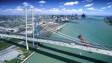 The owner of the Ambassador Bridge proposes this six-lane twin to its existing structure.