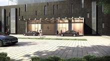 Artist's rendering of the redesigned Four Seasons new Porte Cochere, Toronto (architectsAlliance)