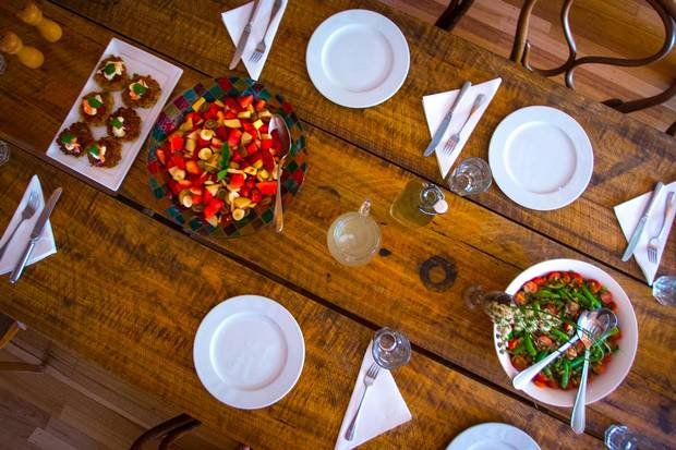 Travellers shouldn't necessarily count on losing any weight on their trek with Tasmanian fare prepared by a private chef a staple of the experience.