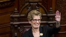 Premier Kathleen Wynne is seen during a swearing in ceremony at Queen's Park on Feb. 11, 2013. In her first meeting with Prime Minister Stephen Harper, Ms. Wynne pushed for a national transit strategy and for the federal government to take a greater role in infrastructure funding. (Kevin Van Paassen/The Globe and Mail)