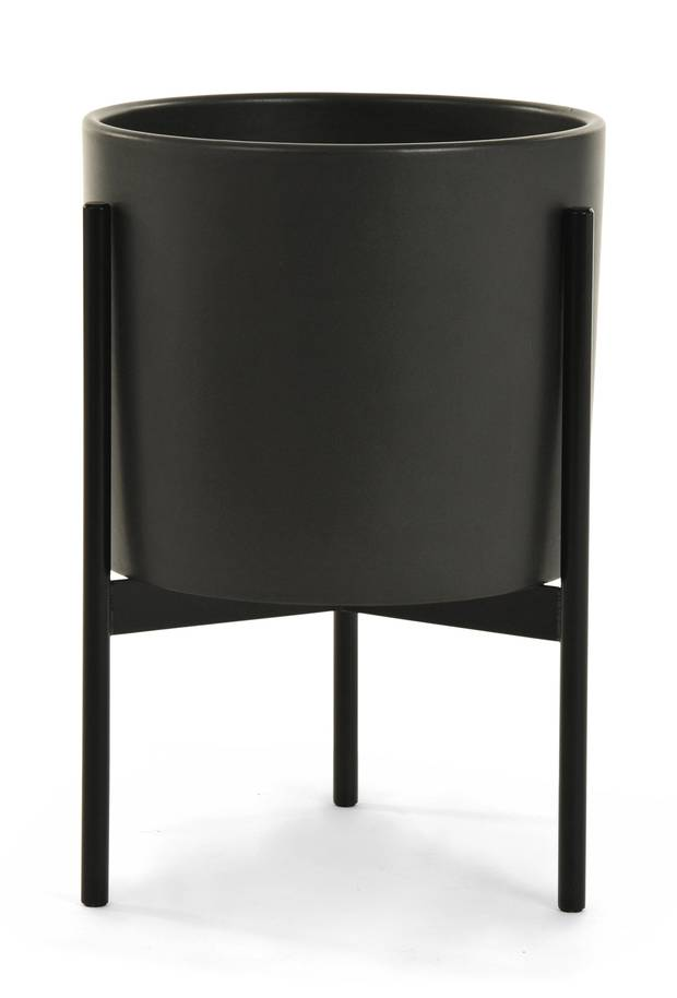 Case Study cylinder plant pot with stand by Modernica, starting at $279 at The Modern Shop (www.themodernshop.ca).