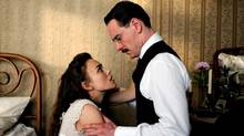 "Keira Knightley and Michael Fassbender in a scene from ""A Dangerous Method"" (Sony Pictures Classics)"