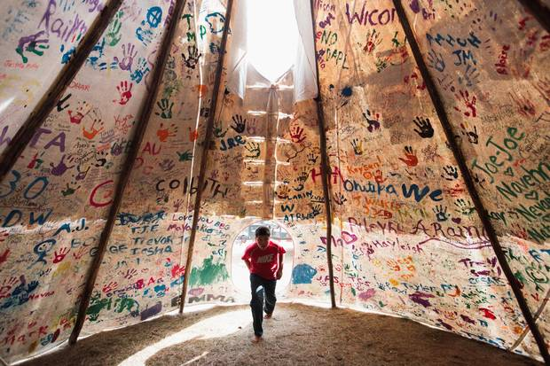 Oceti Sakowin, or the Seven Council Fires, is the true name of the great Sioux nation and refers to the coming together of the different factions of the tribe. They are among the 200-plus tribes represented in the camps and on the front lines.