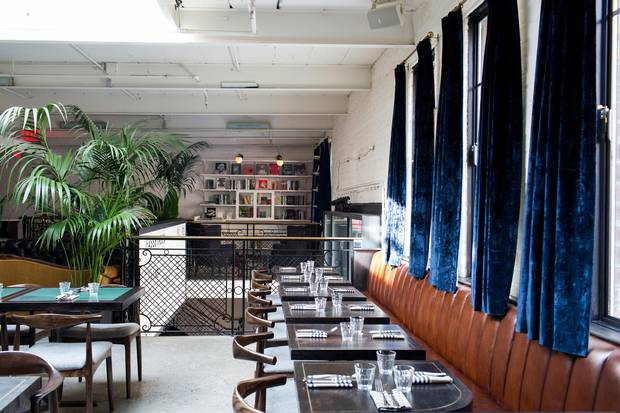 Visitors can dine at Metrograph's Commissary restaurant even before hitting the box office.