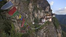 The Taktsang Palphug Monastery, also known as the Tiger's Nest, is a dramatic and physically demanding destination for tourists to Bhutan. (Adrees Latif/REUTERS)