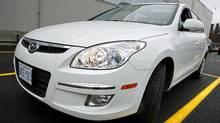 2010 Hyundai Elantra Touring GLS. (Deborah Baic/Deborah Baic/THE GLOBE AND MAIL)
