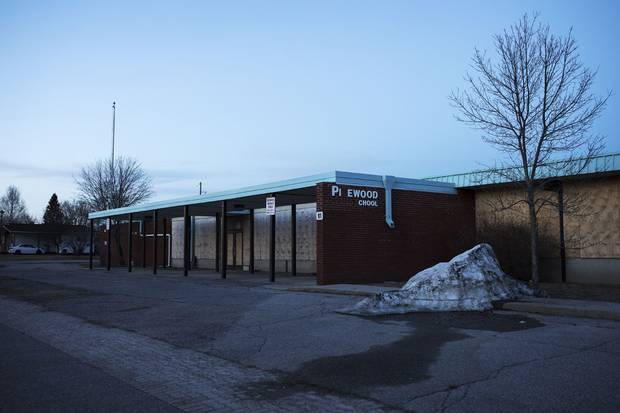 The former Pinewood school site in Dryden has been sitting vacant for years.