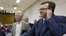 Lawyer Keith Wilson, right, is seen in this file photo. Wilson represents several rural landowners who have health concerns linked to odours from heavy-oil sites.