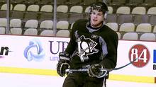 Sidney Crosby back on the ice for the first time on monday march 14 , 2011 since missing 29 games due to a concussion.