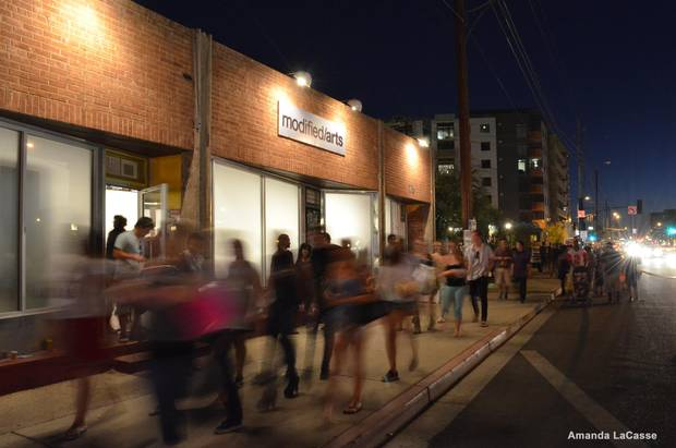 If you're in Phoenix for the first Friday of any month, you can take a self-guided (but curated) walking tour of Roosevelt Row as part of Artlink Phoenix's First Fridays initiative.