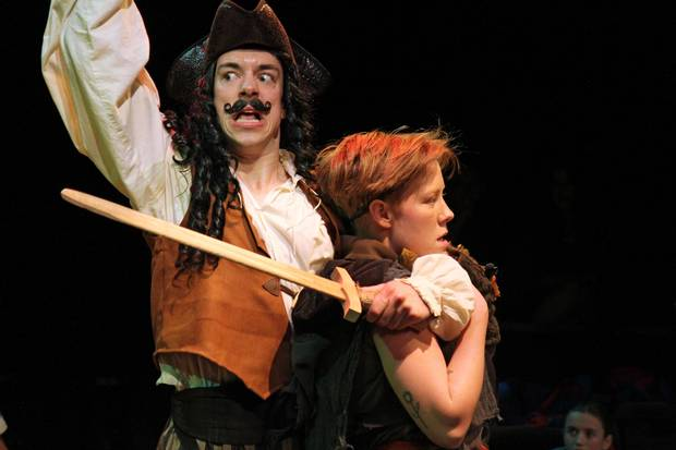 Graham Conway and Fiona Sauder in Peter Pan at Toronto's Young Centre for the Performing Arts.