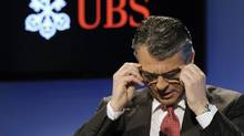 In this file photo, UBS CEO Sergio Ermotti speaks at a news conference (Steffen Schmidt/AP)