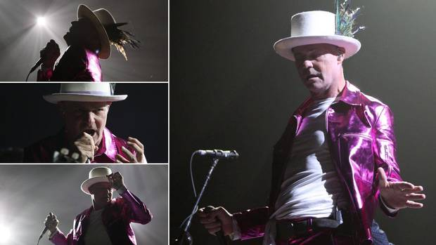 Gord Downie performs during the first stop of The Tragically Hip's Man Machine Poem tour in Victoria on July 22, 2016.