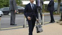 Bank of England Governor Mark Carney arrives to address business leaders in Nottingham, England, Wednesday, Aug. 28, 2013. (Nigel Roddis/AP)