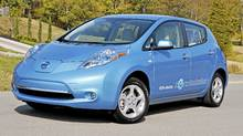2011 Nissan Leaf (Michael Bettencourt for The Globe and Mail)