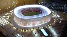 FIFA has been mired in controversy, including allegations that millions in bribes were paid in connection with the awarding of the World Cup to Russia in 2018 and Qatar in 2022. Qatar's bid included models for a dozen stadiums, including this one. (Osama Faisal/Associated Press/Osama Faisal/Associated Press)