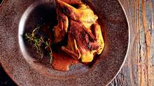 Roasted Quail with Chocolate Jus. Food styling by Victoria Walsh. (Liam Mogan for The Globe and Mail)