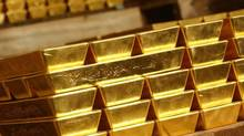 "Gold bars stored in the HSBC vaults are seen in London on November 16, 2007. Twice a day, representatives of five banks pick up the phone to trade physical gold and arrive at the London ""fixing"" price, which then becomes a benchmark for gold around the world. (Handout/REUTERS)"