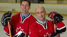Gord Miller and Pierre McGuire, TSN broadcast team who will cover the World Junior Hockey Championships TSN (TSN/TSN)