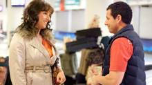 "Adam Sandler (left) and Adam Sandler (right) in a scene from ""Jack and Jill"" (Handout)"