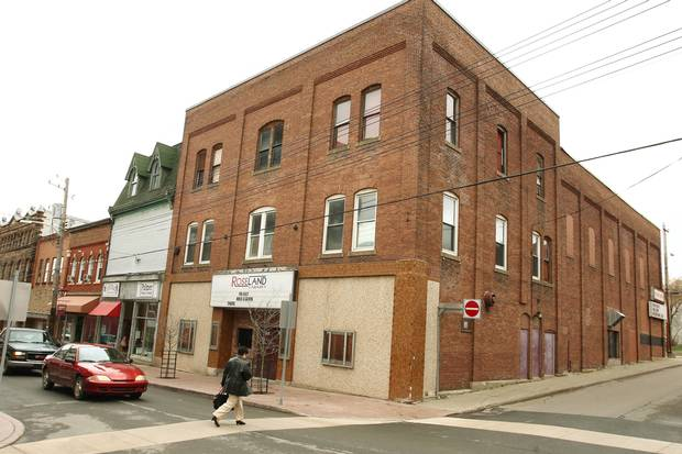 A nightclub that was once home to the Roseland Theatre is shown in downtown New Glasgow, N.S., on April 29, 2010.