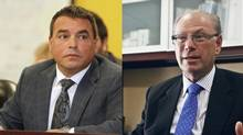 According to the CBC, Toronto councillor Giorgio Mammoliti, left, paid slightly above $1,050 per month for his two-bedroom apartment at Yonge St. and Eglinton Ave. as recently as last June, while David Shiner, right, paid just under $650. Greenwin Property Management's website says rent prices start at $1,650.