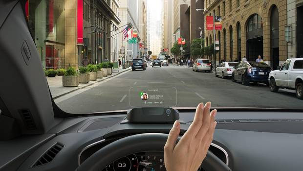 Augmented reality could allow drivers to view information such as speed and directions without taking their eyes off the road.
