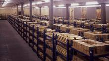 Gold Bullion in the vaults at the Bank of England. (NewsCast/NewsCast)