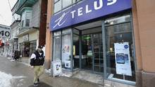 A Telus store in Toronto's Beach neighbourhood. (Fred Lum/The Globe and Mail)