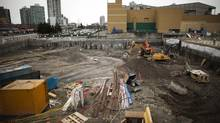 The site of the Station Square condo and retail project in Burnaby, B.C., March 5, 2013. (Rafal Gerszak for The Globe and Mail)