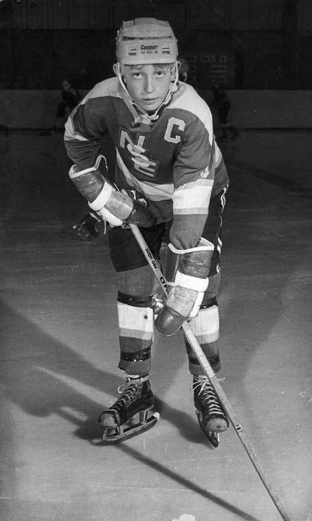 Canadian hockey great Wayne Gretzky is seen in this 1972 file photo as a youngster during his days as an Ontario Minor League hockey player and is for use as desired with Gretzky retirement packages.