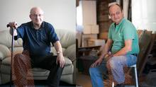 Diabetics with arterial disease in their lower legs are being given a new lease on life with an angioplasty technique previously used only on cardiac patients. Two happy recipients of the surgery: Moisei Korol (left ) and Charles Hykawy. (Tim Fraser)