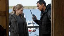 Arctic Air stars Pascale Hutton and Adam Beach (Ed Araquel/CBC)