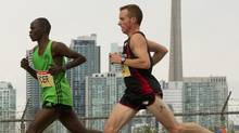Stephen Chelimo and Reid Coolsaet: 'Reid likes Chelimo.' (canada running series)
